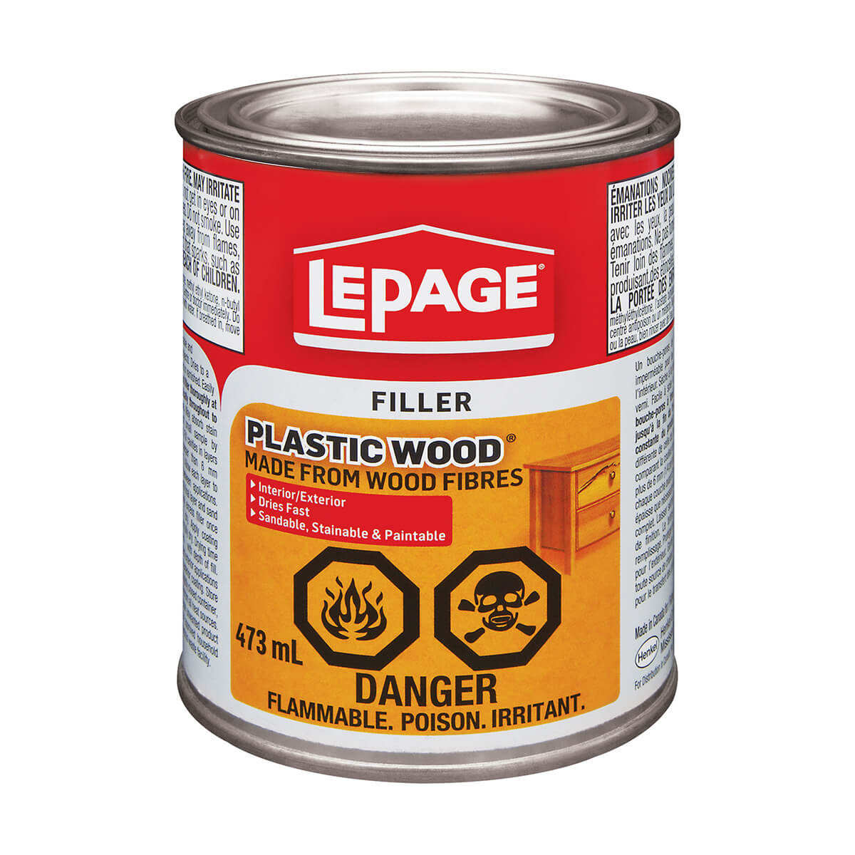 Plastic Wood Filler - Lepage - 473ml