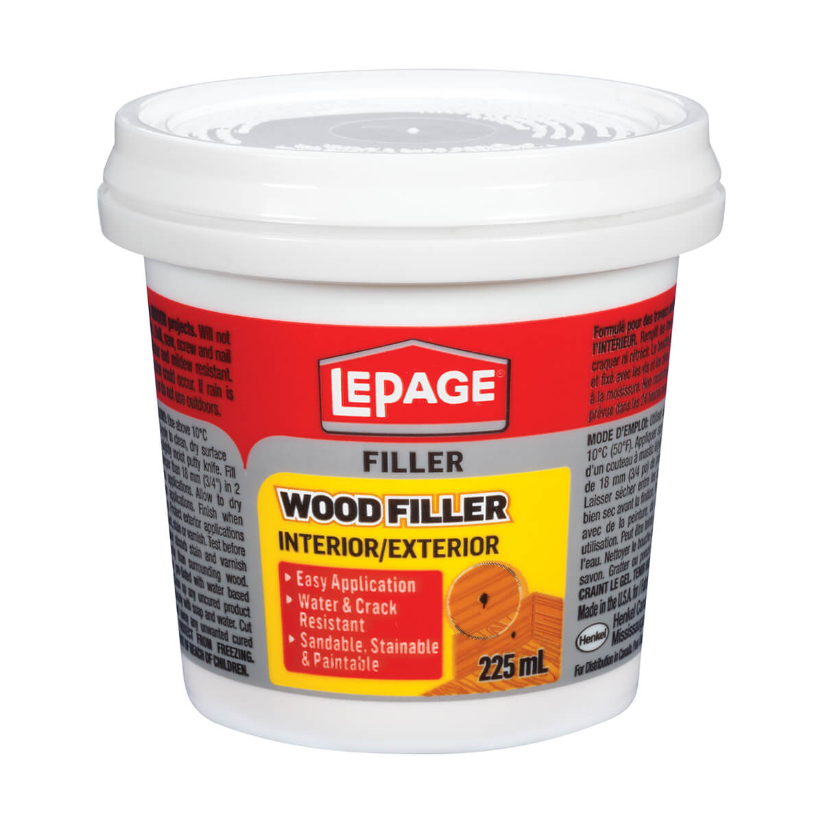 Wood Filler - Lepage - Interior and Exterior - 225ml