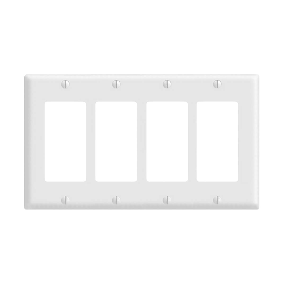 Decora wall plate 4 Gang - White
