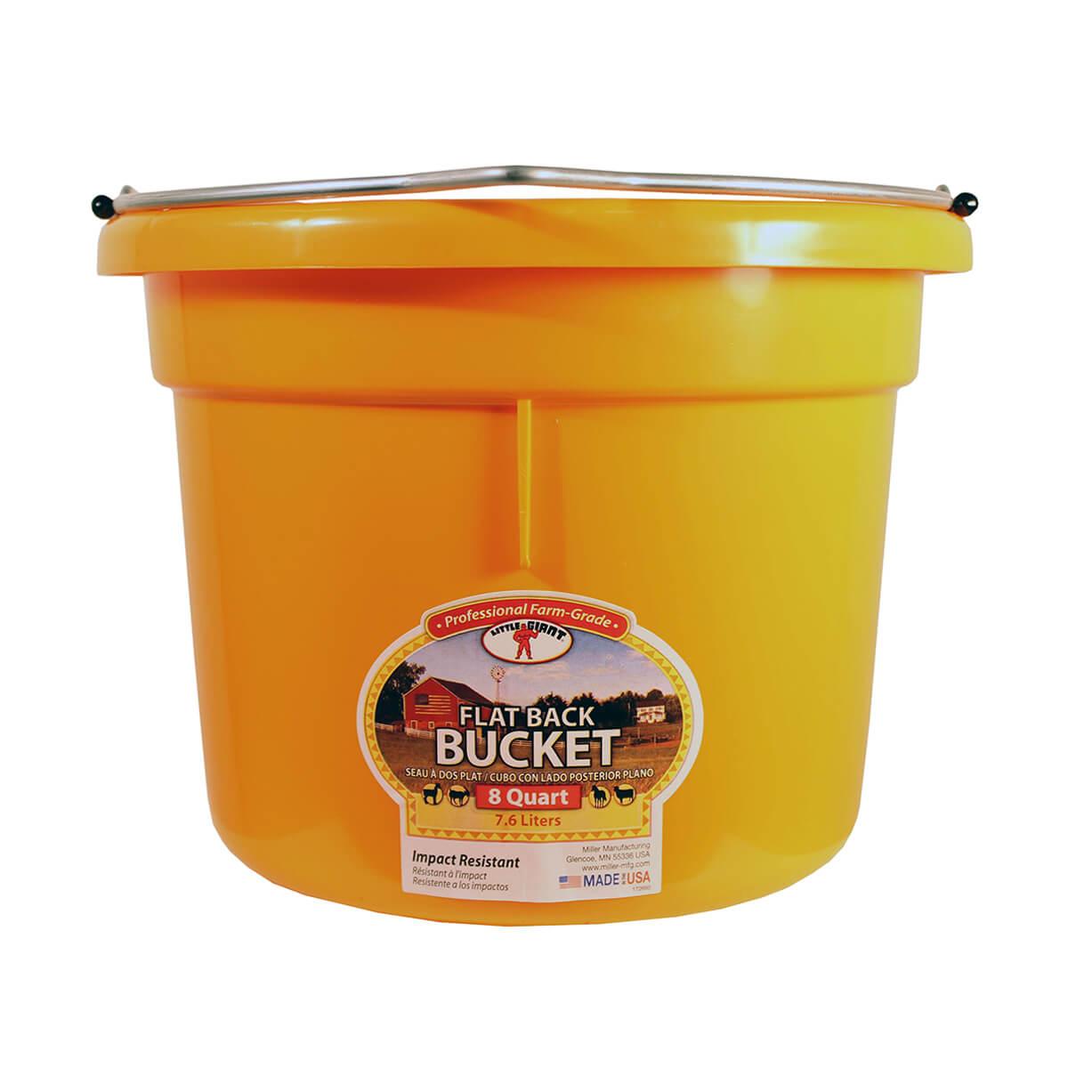 Flat-Back Buckets - Orange - 8 qt