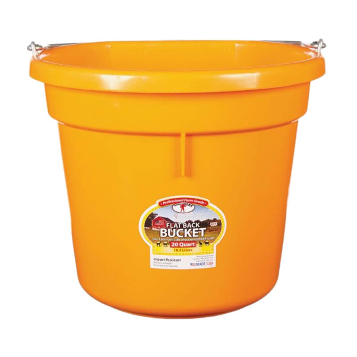 Flat-Back Buckets, Orange - 20 qt
