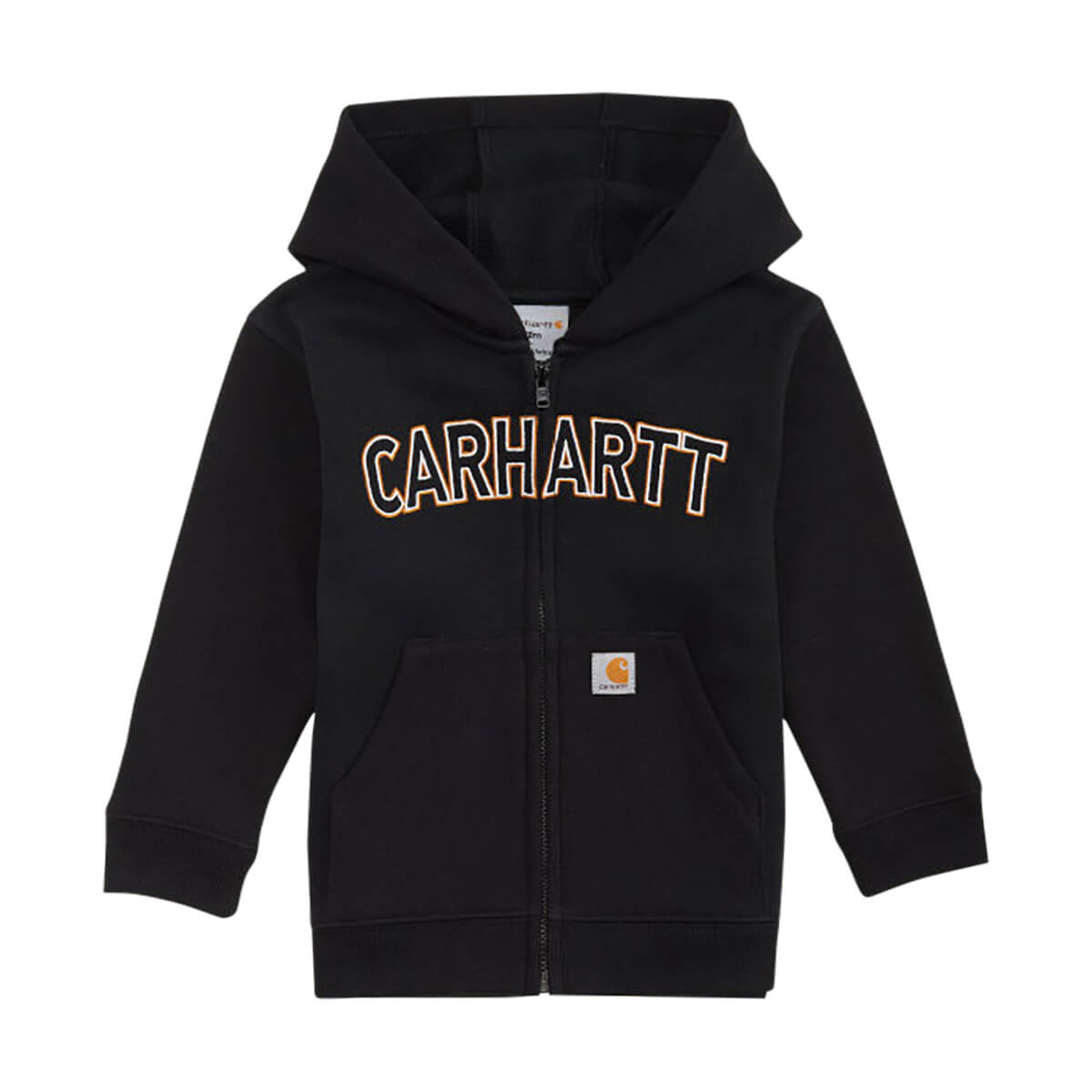 Carhartt Toddler Boys' Logo Fleece Sweatshirt Caviar Black - 2T