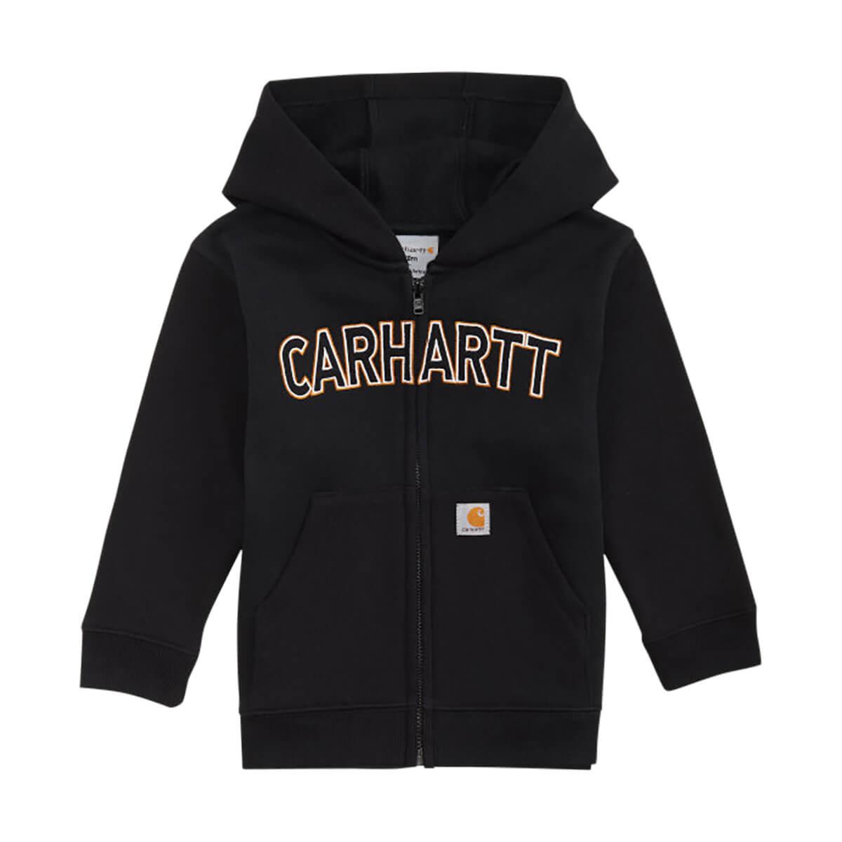 Carhartt Kids Logo Fleece Sweatshirt - Caviar Black - 3T