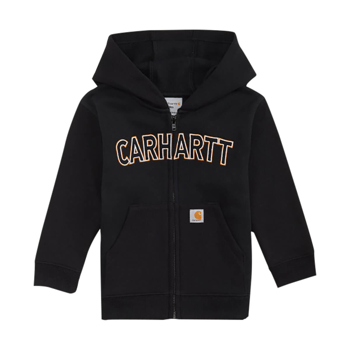 Carhartt Toddler Boys' Logo Fleece Sweatshirt Caviar Black - 4T