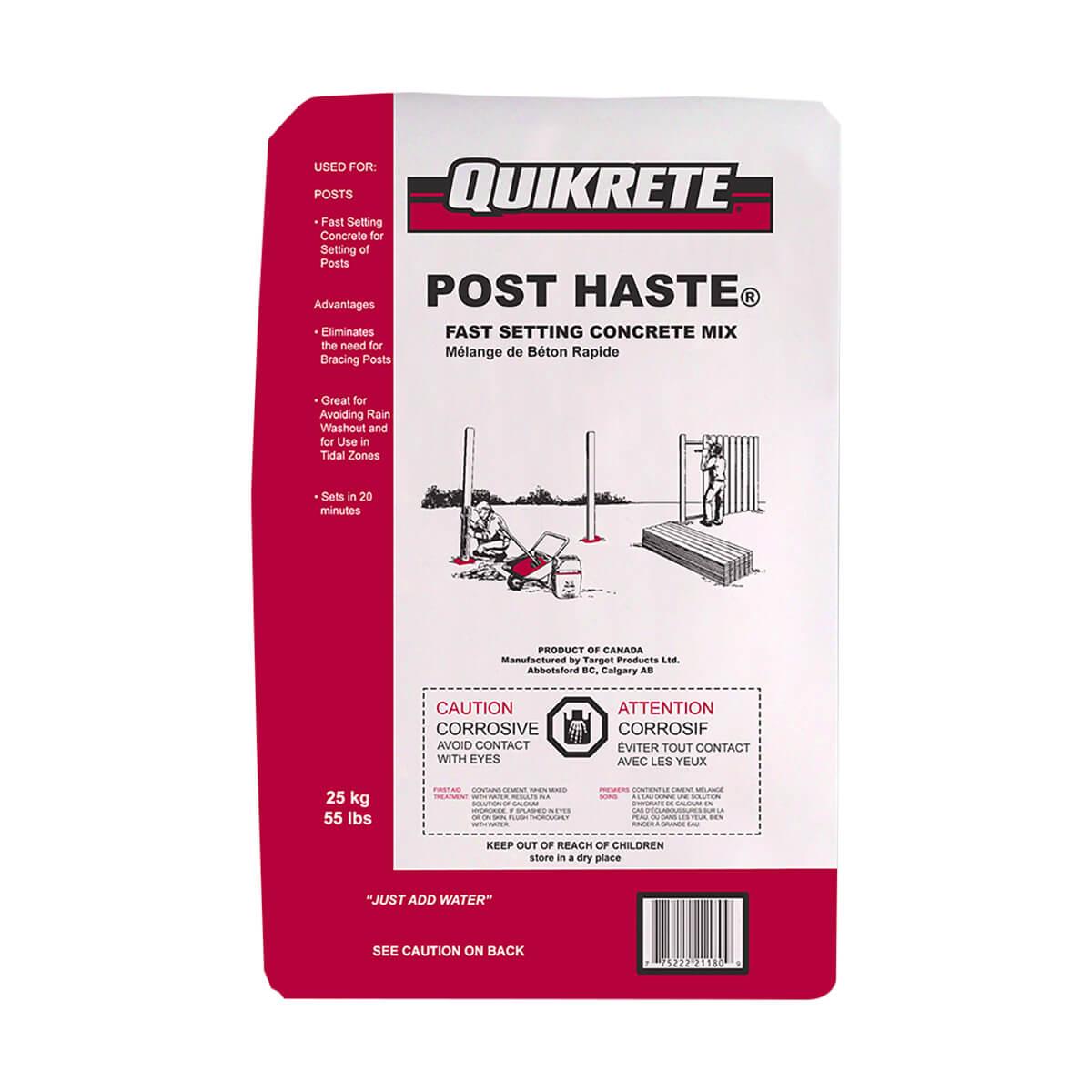 Post Haste Fast Setting Concrete Mix Quickrete - 25 kg