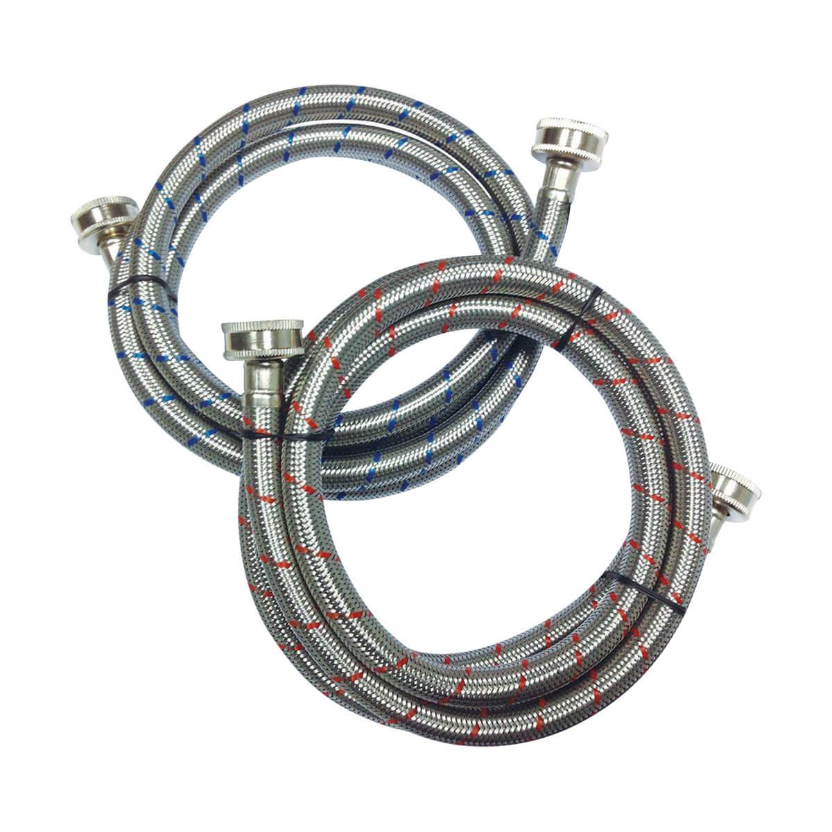 """Wash Machine - Flex Connector - 3/4"""" x 60"""" - 2/Pack"""