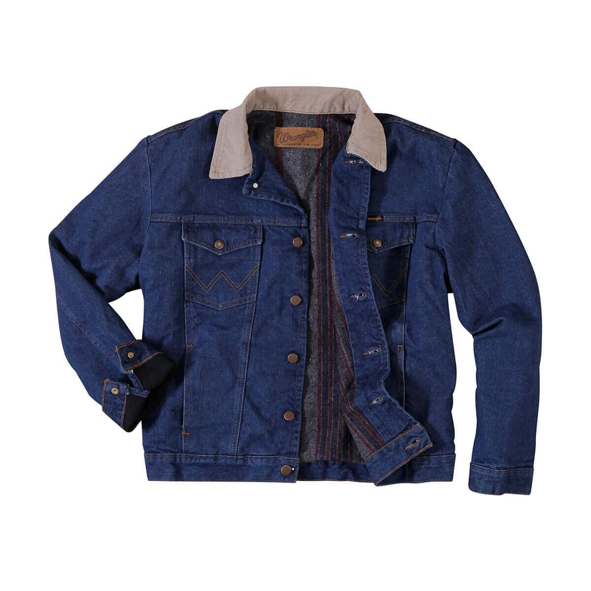 Wrangler - Men's Regular Blanket Lined Denim Jacket