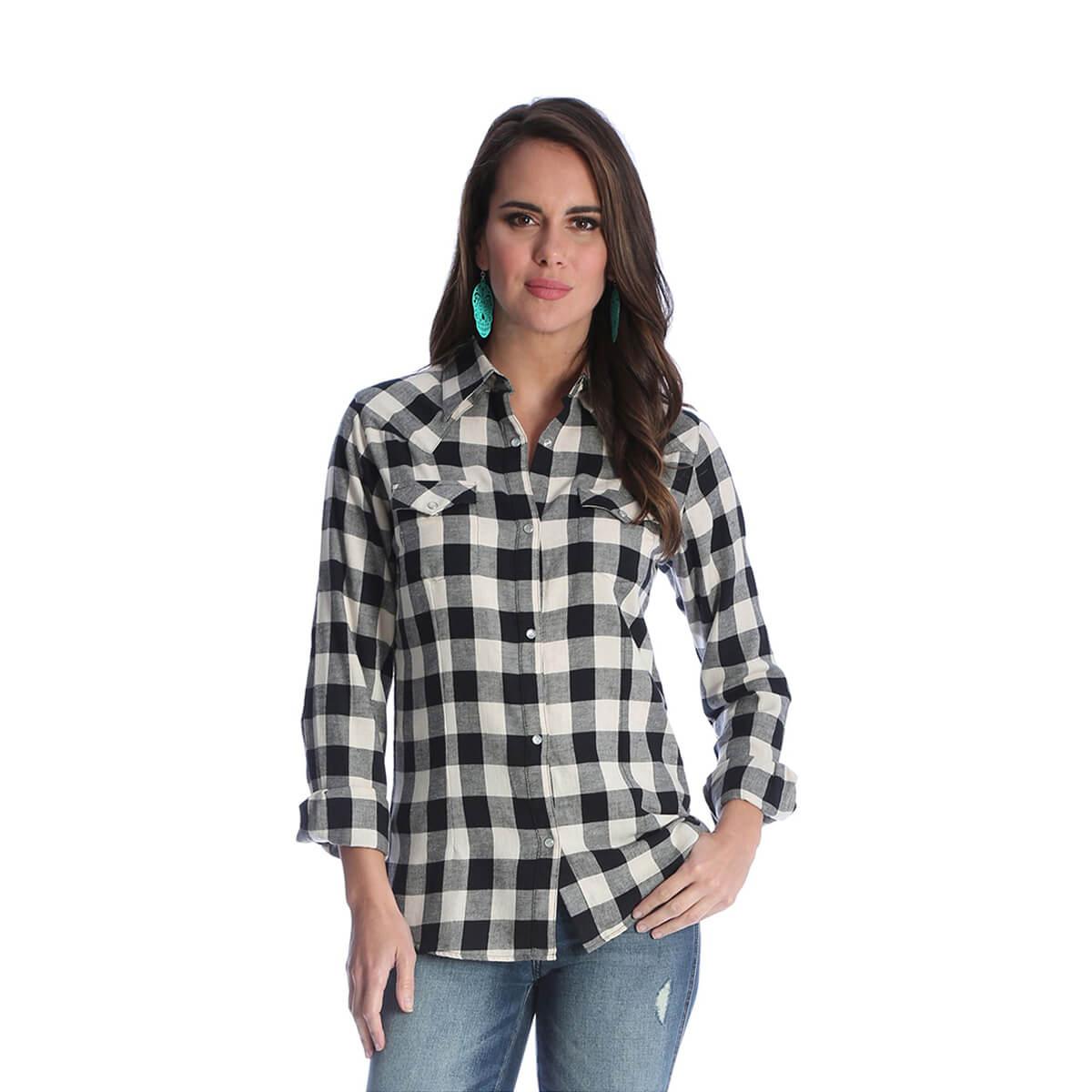 Ladies Wrangler® Western Fashion Shirt Flannel