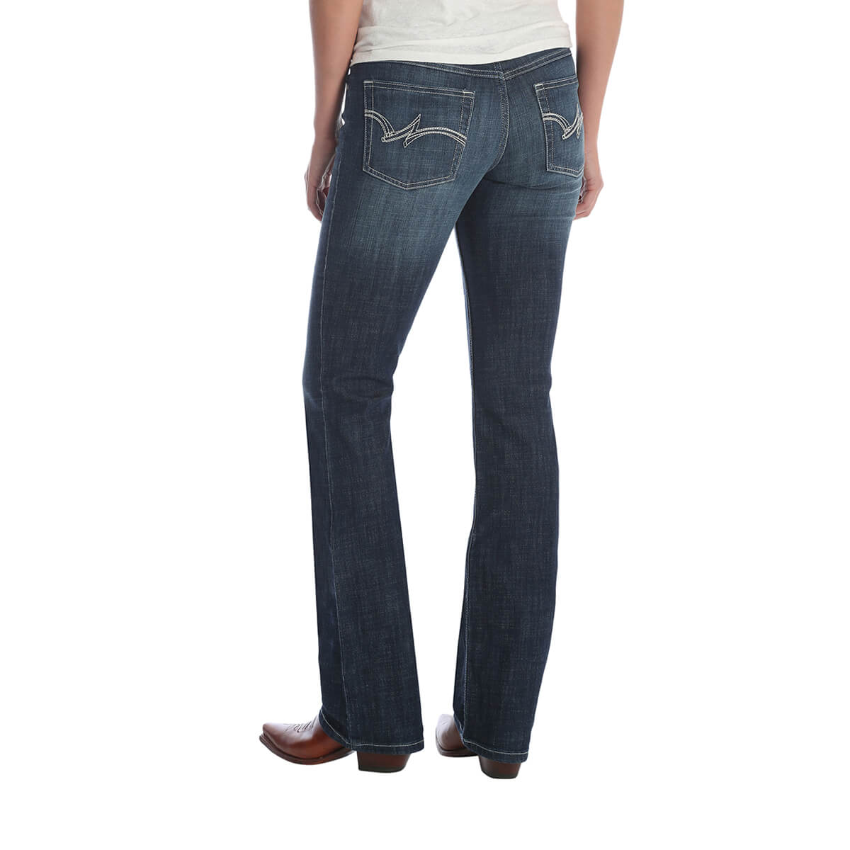 Women's Wranglers Dark Wash Boot Cut Jeans