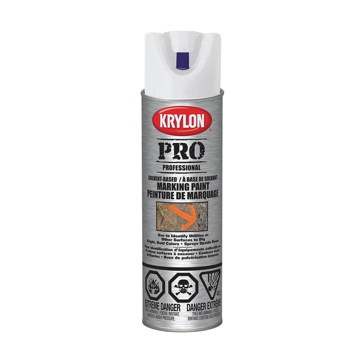 Krylon contractor marking paint, Solvent based, APWA White - 482 g