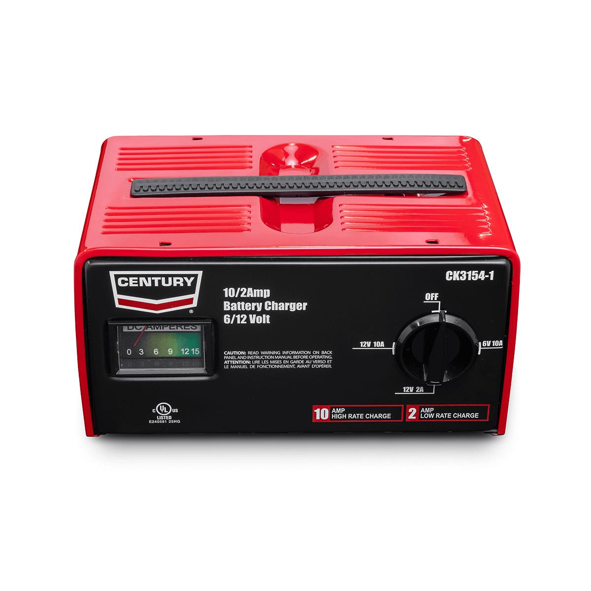 10/2 Amp Century Manual Battery Charger