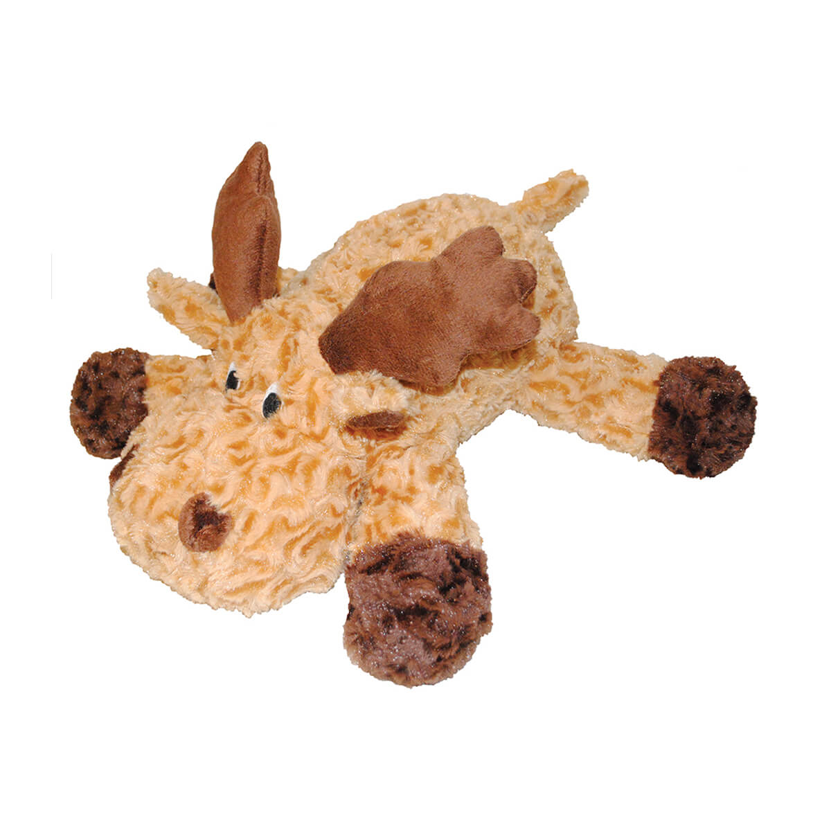 """Patchwork Pet Swirl Moose Squeak Toy for Dogs - 8"""""""
