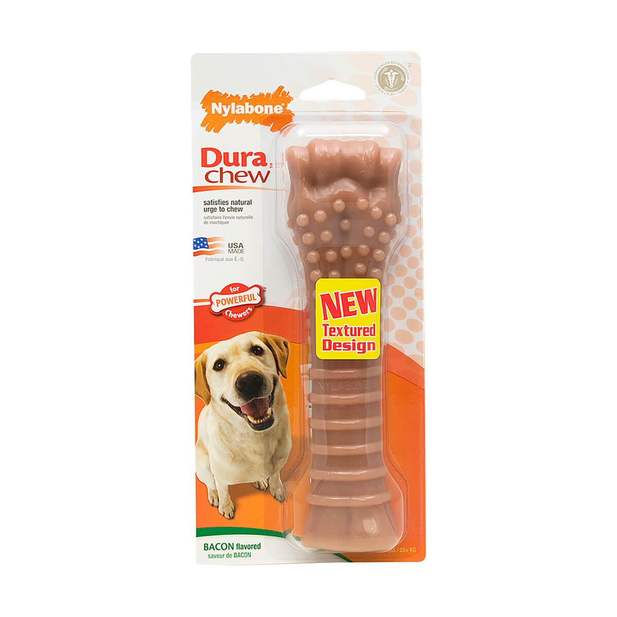 Nylabone New Durable Bacon Flavored Bone Souper - XL
