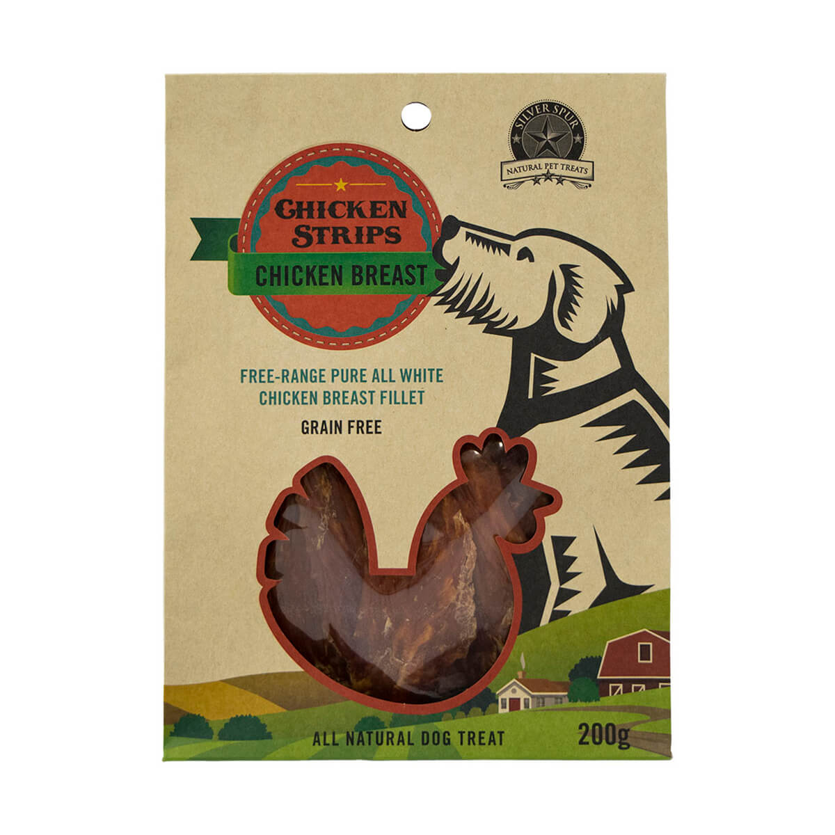 Silver Spur Soft Chicken Jerky Strips for Dogs - 200 g
