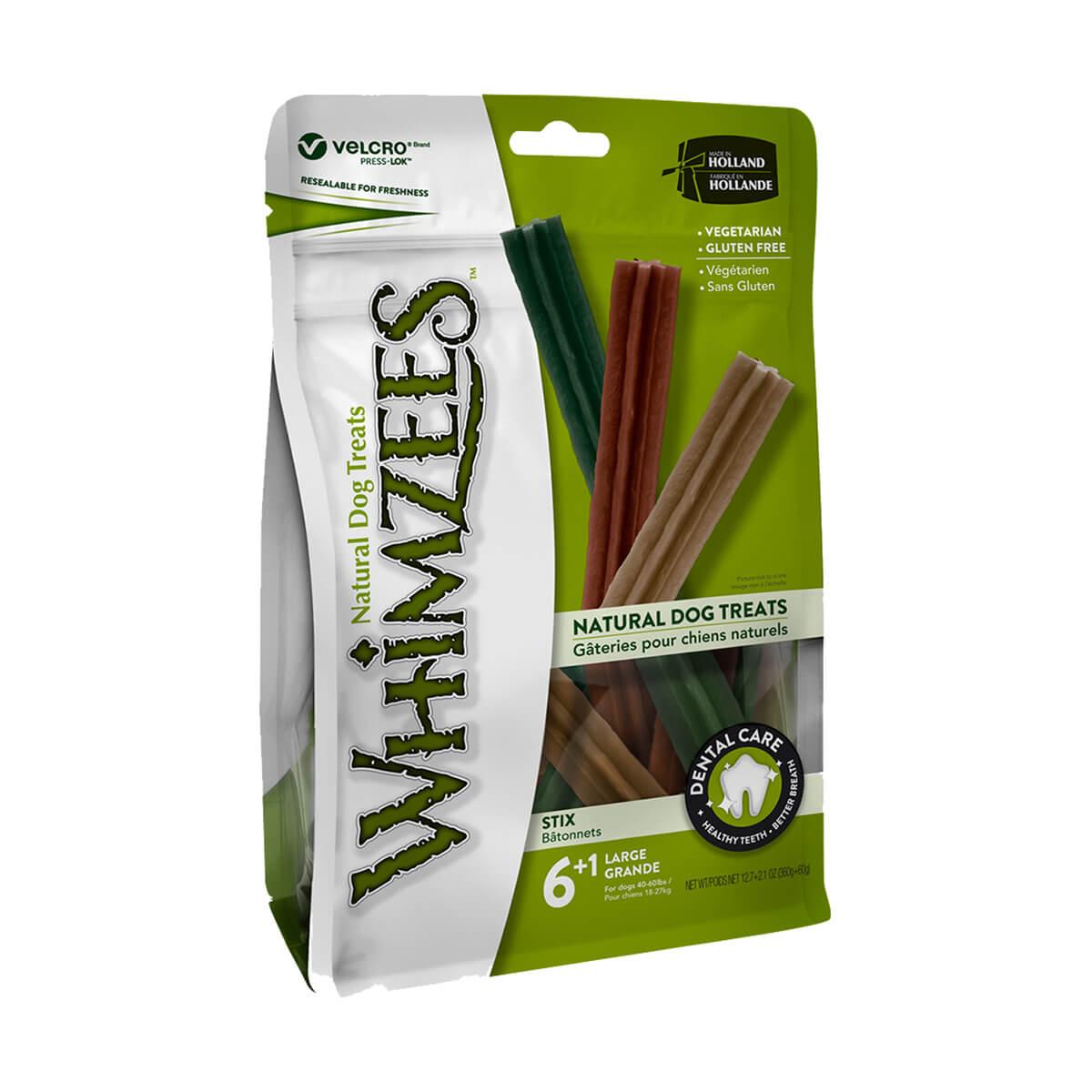 Whimzees Natural Dog Treats - 7 Sticks