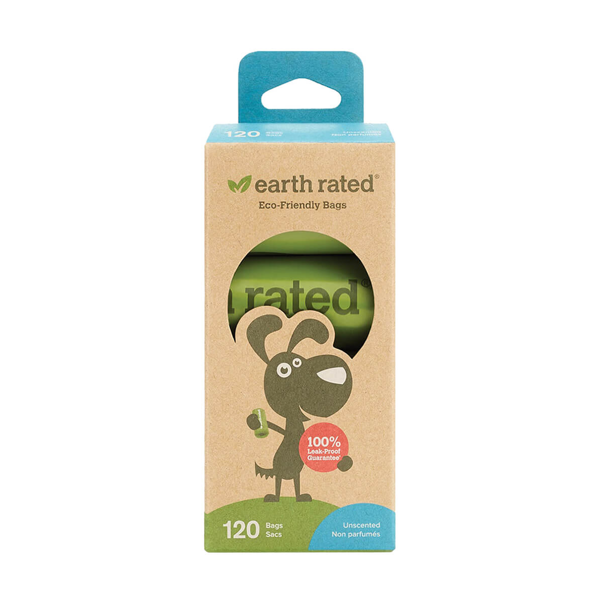 Earth Rated PoopBags Refill Pack, Unscented, 120 Bags