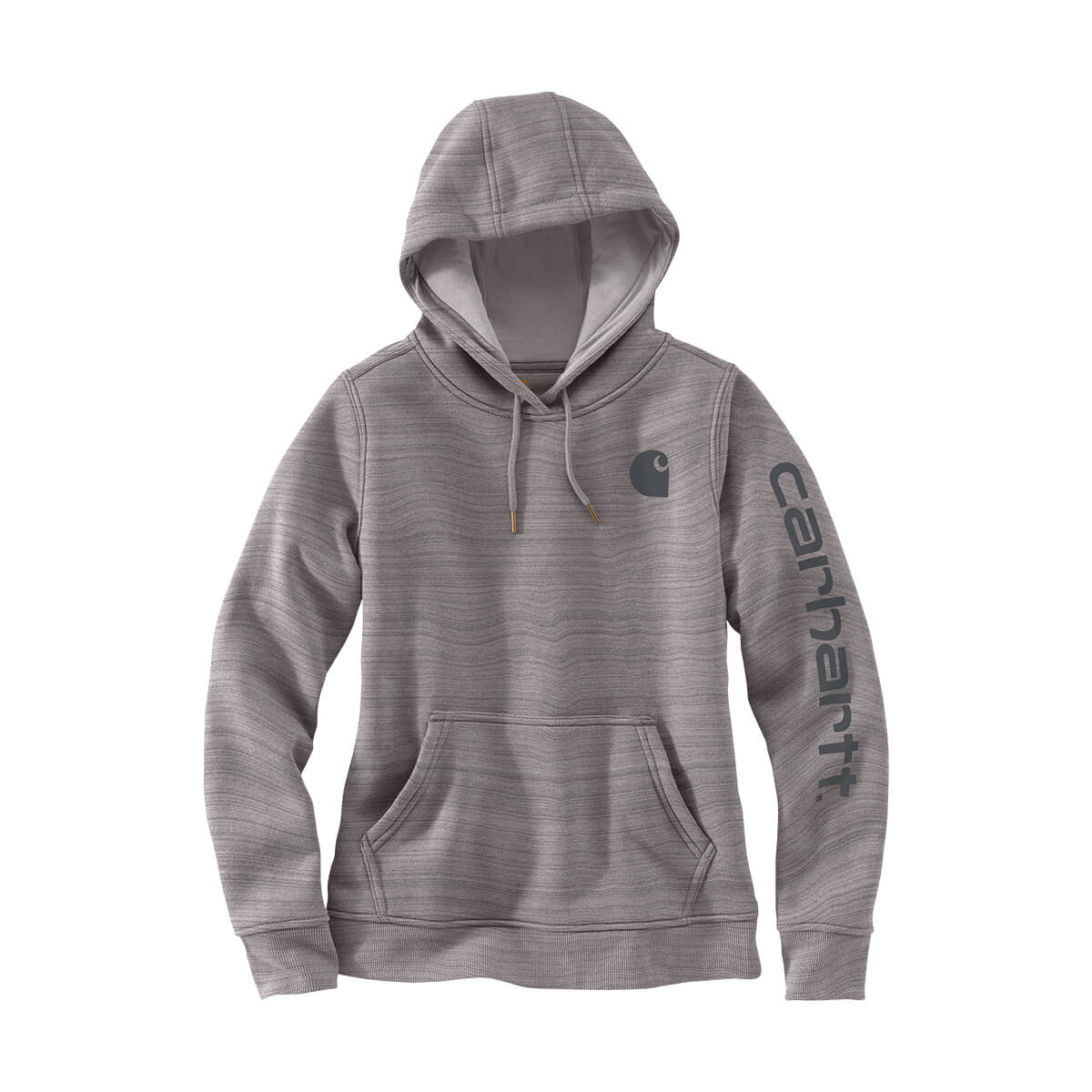 Women's Carhartt Pullover Hoodie with Sleeve Logo
