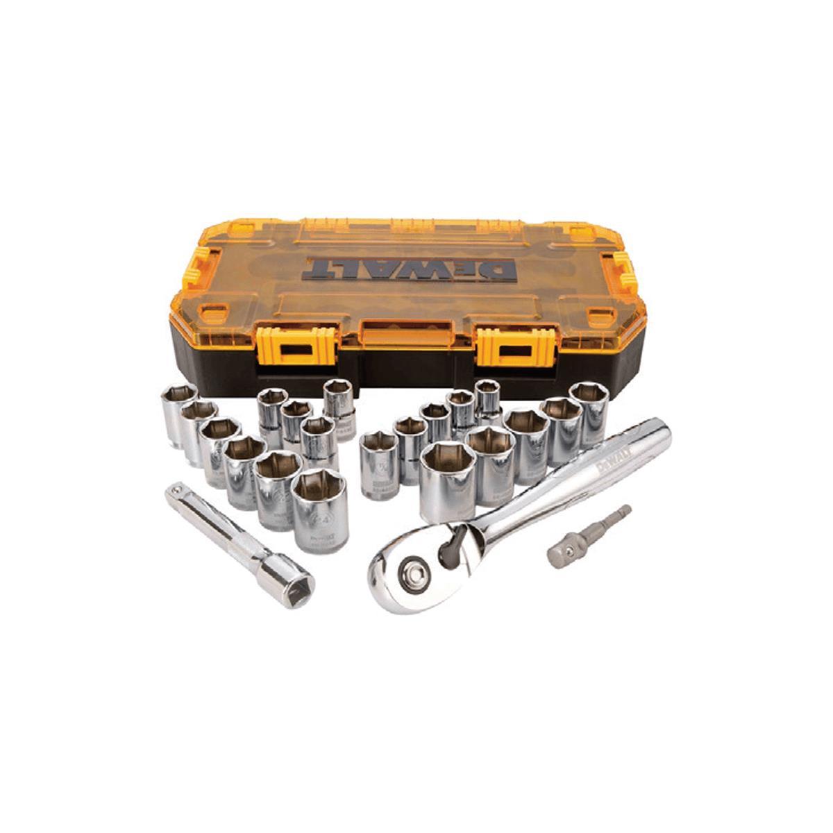 "23 Piece 1/2"" Drive Combination Socket Set"