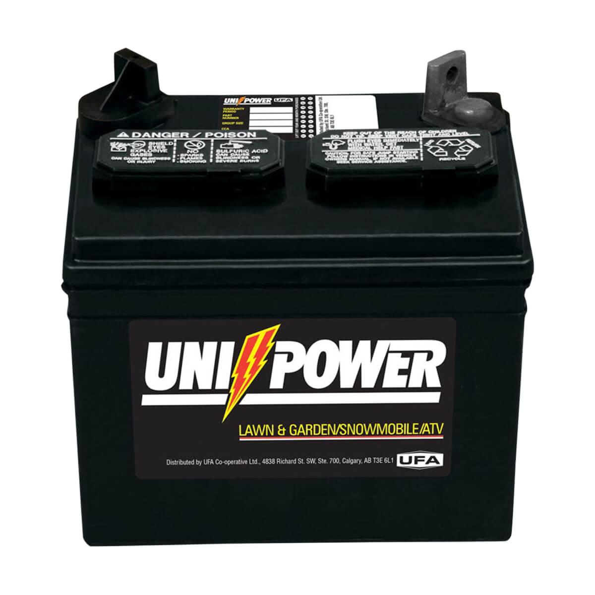 Uni-Power Heavy Duty Lawn and Garden 12 Volt Battery - 8-U-1XP
