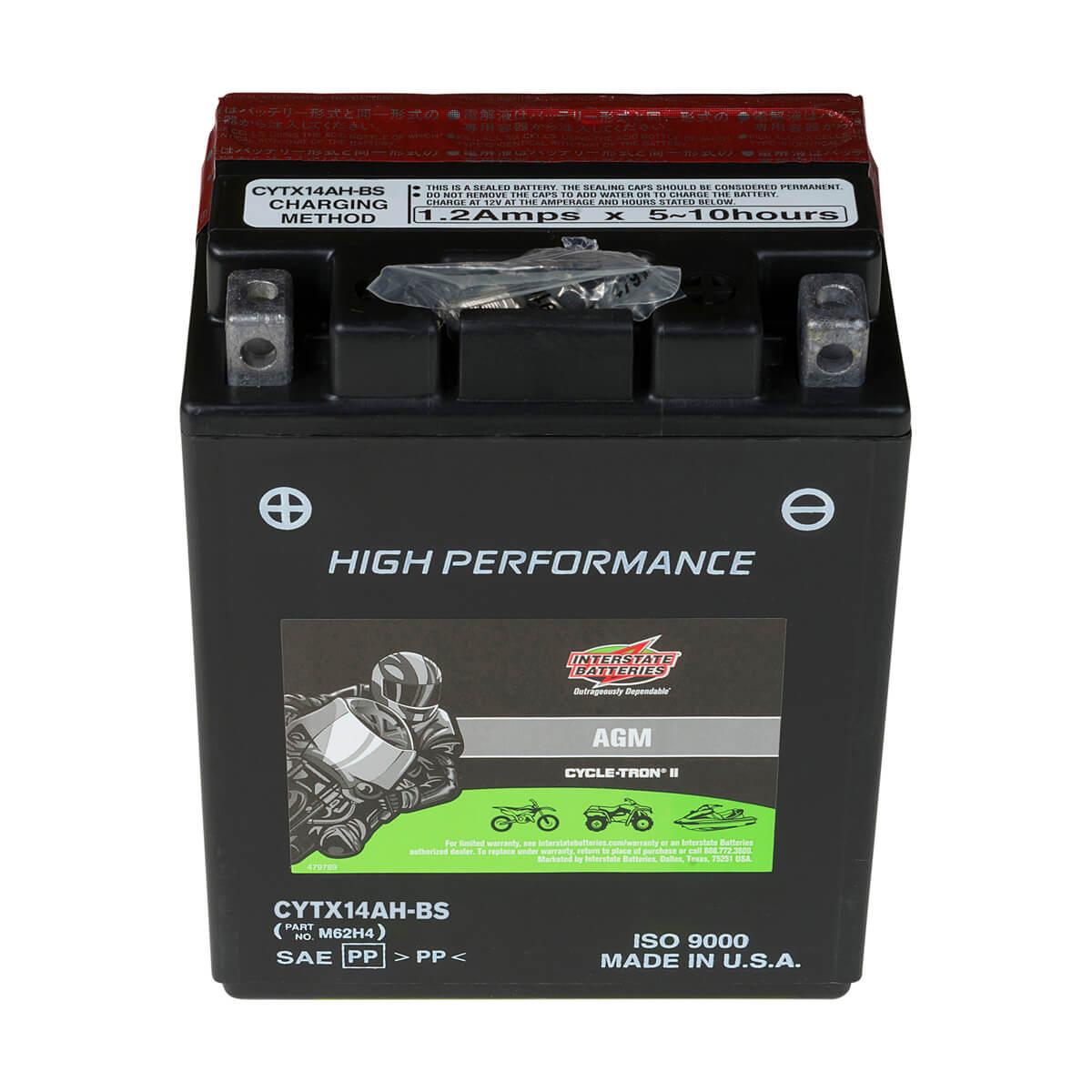 Cycletron AGM 12 Volt Battery, Non Spillable - CYTX14AH-BS