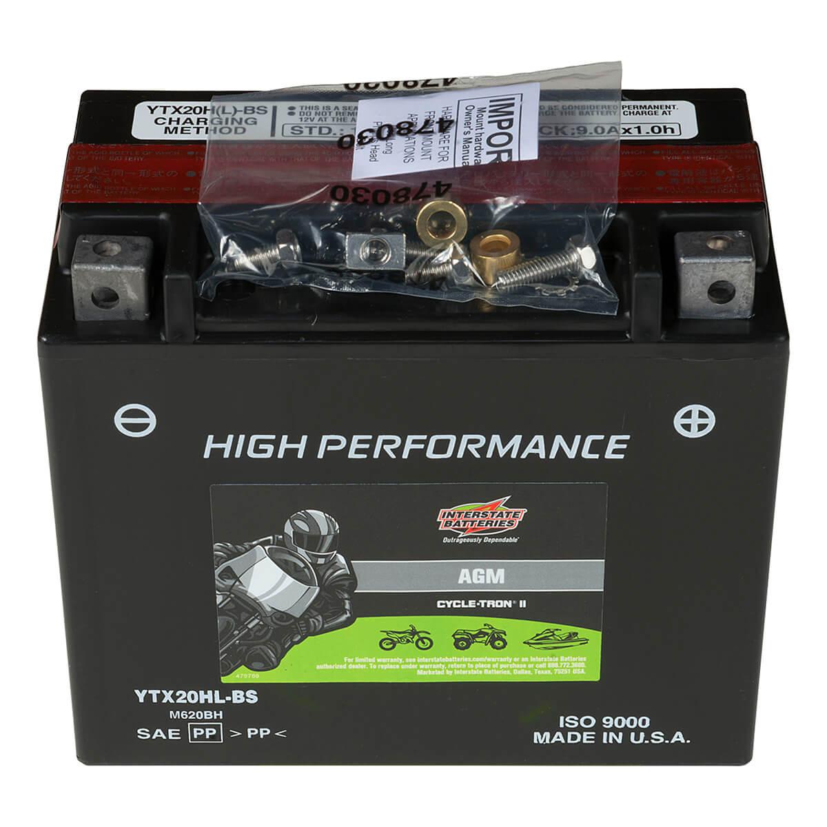 Cycletron AGM 12 Volt Battery, Non Spillable - CYTX20HL-BS