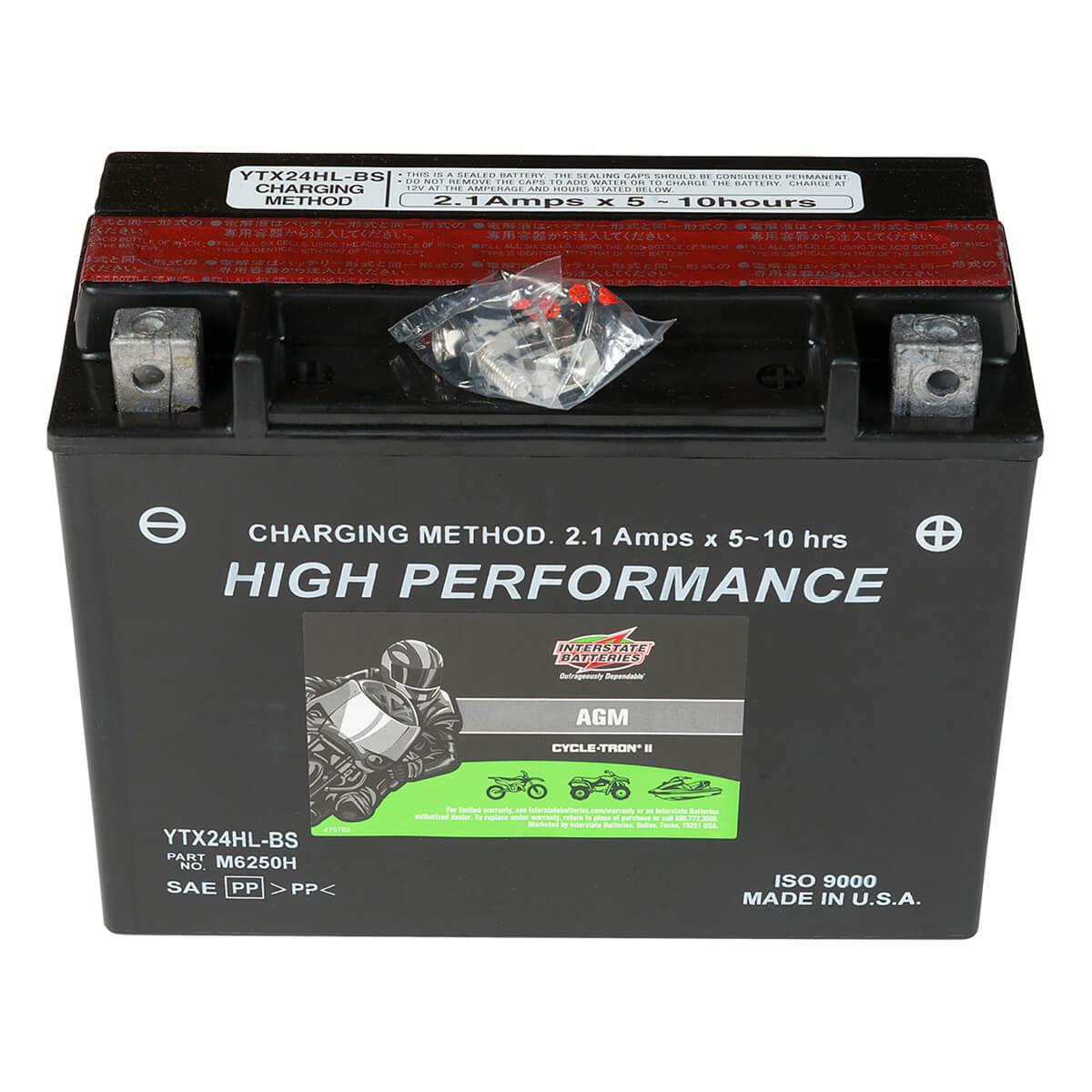 Cycletron AGM 12 Volt Battery, Non Spillable - CYTX24HL-BS