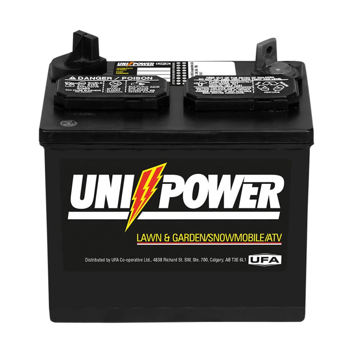 Uni-Power Medium Duty Lawn and Garden 12 Volt Battery - 8-U-1P
