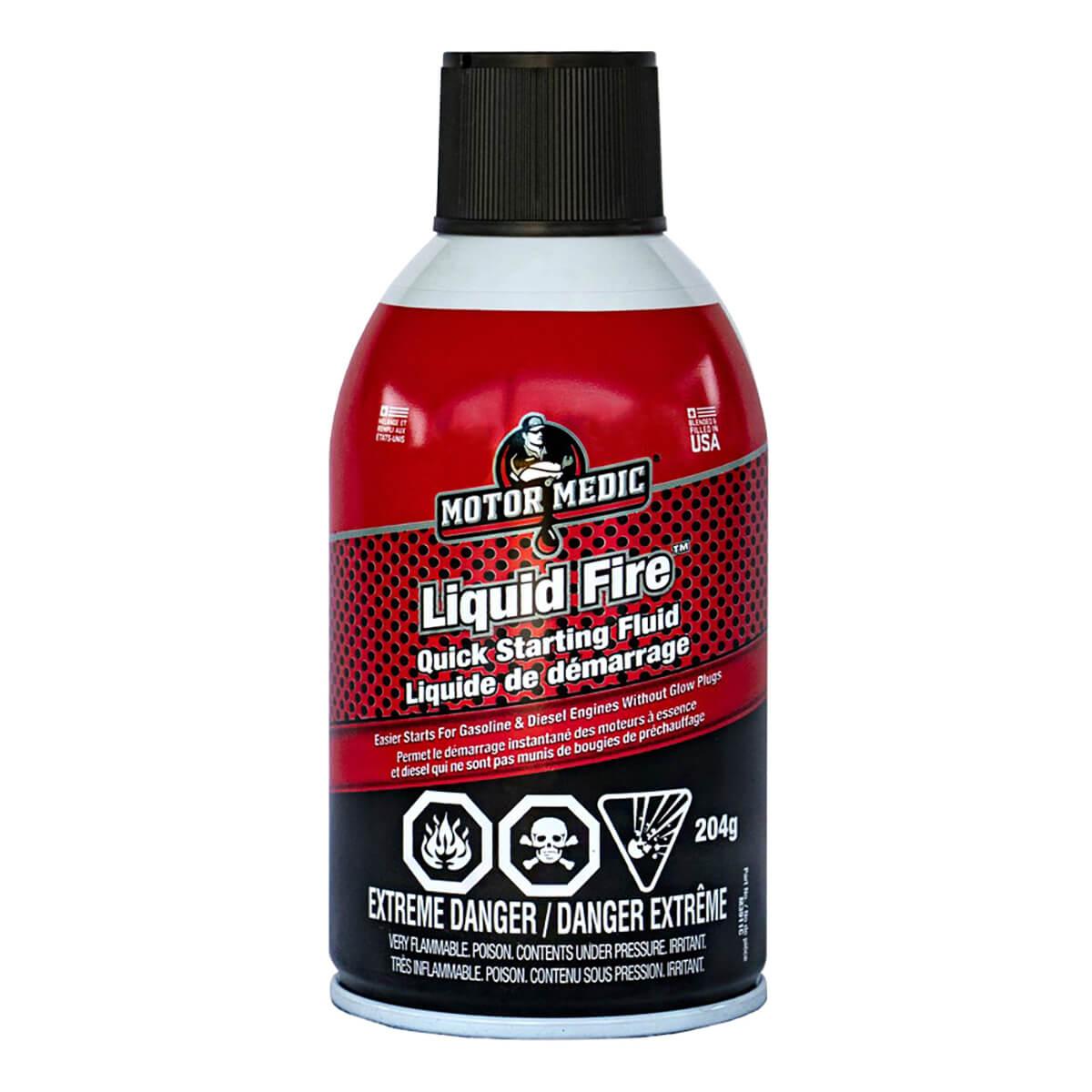Motor Medic Liquid Fire Quick Starting Fluid - Aerosol 204g