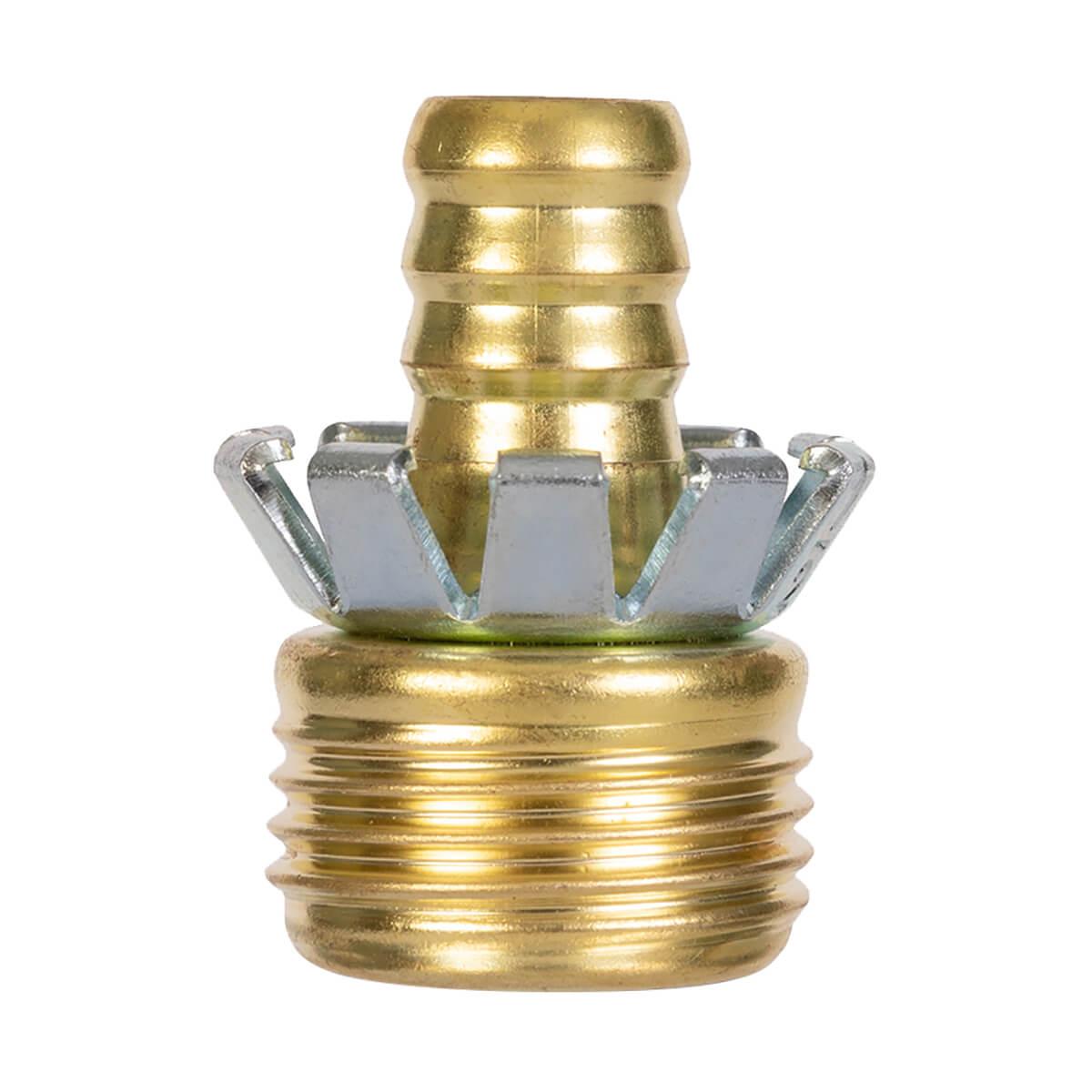 "Gilmour C12M Male Brass Hose Coupler - 1/2"""
