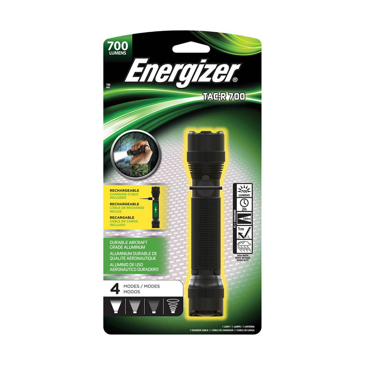Energizer Rechargeable 700 Lumen Tac Light