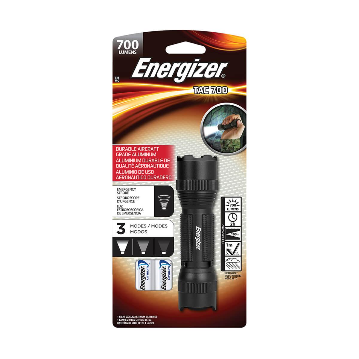 Energizer Vision HD LED Flashlight - Black - 700 lumens