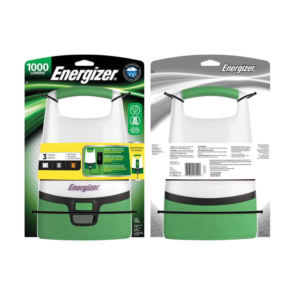 Energizer LED Rechargeable Lantern - 1000 Lumens