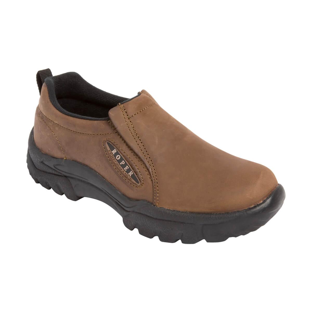 Men's Roper Western Shoes - Sport Slip-On - Brown - 9