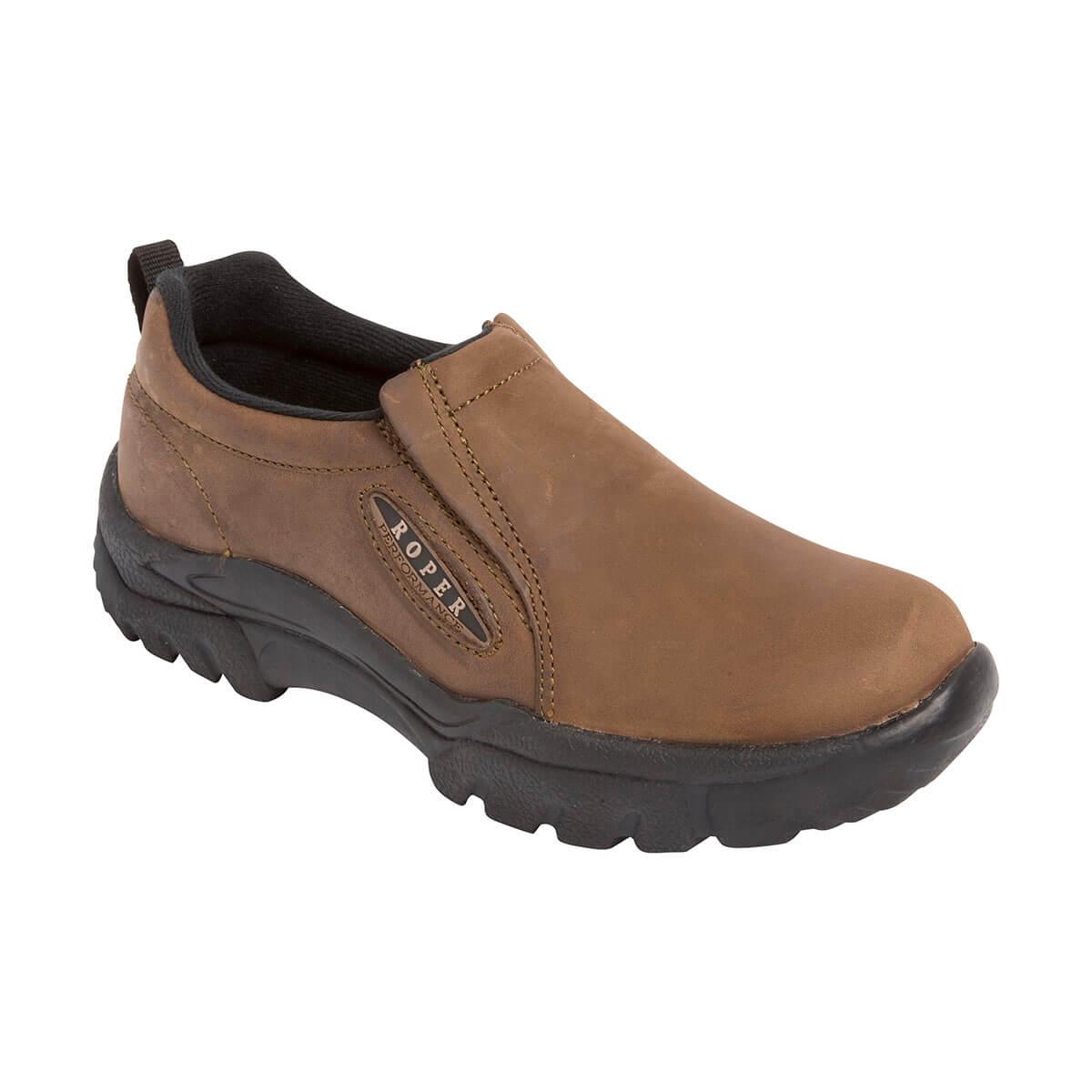 Men's Roper Western Shoes - Sport Slip On - Brown - 10
