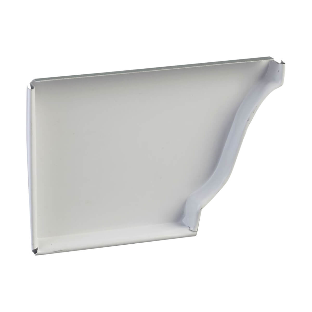 Kaycan End Cap - Left Hand - 4-in - White