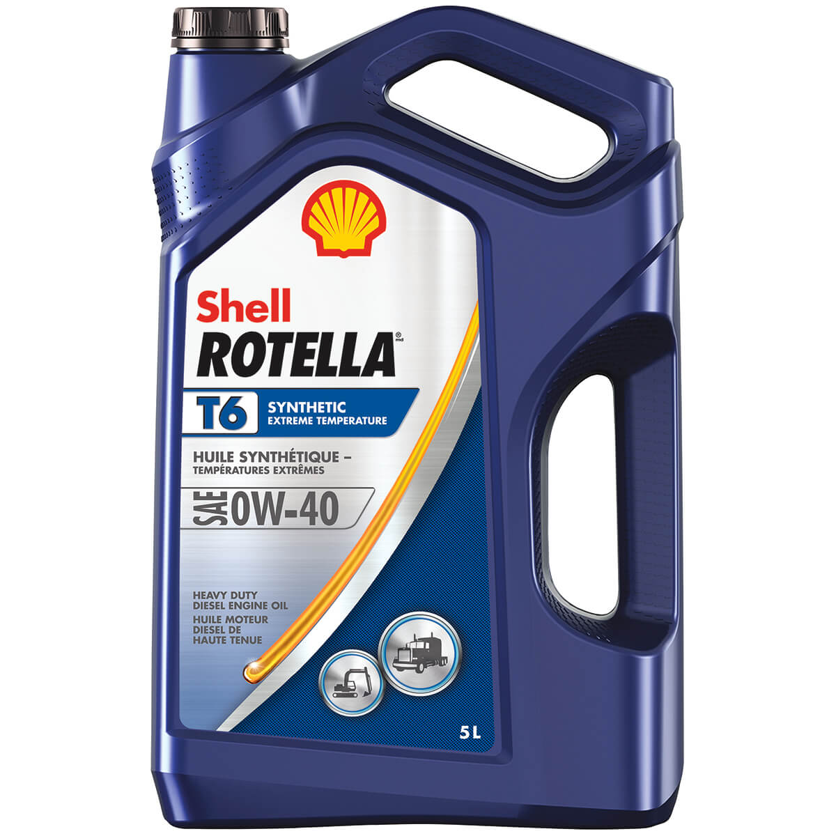 Shell Rotella T6 Triple Protection Synthetic 0W-40 - 5 L