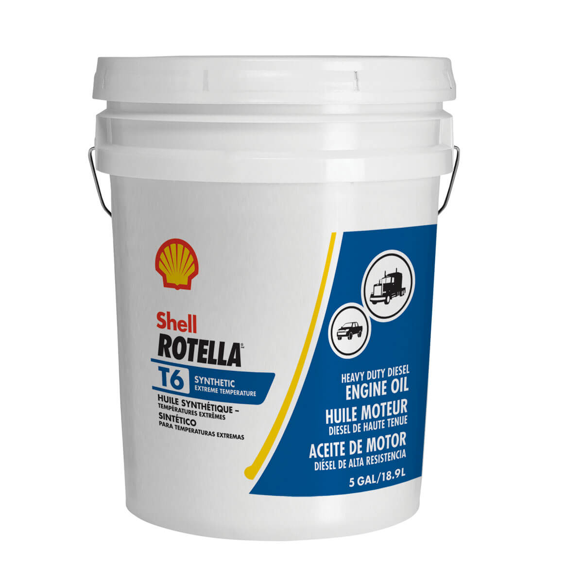 Shell Rotella T6 Triple Protection Synthetic 0W-40 - 18.9L