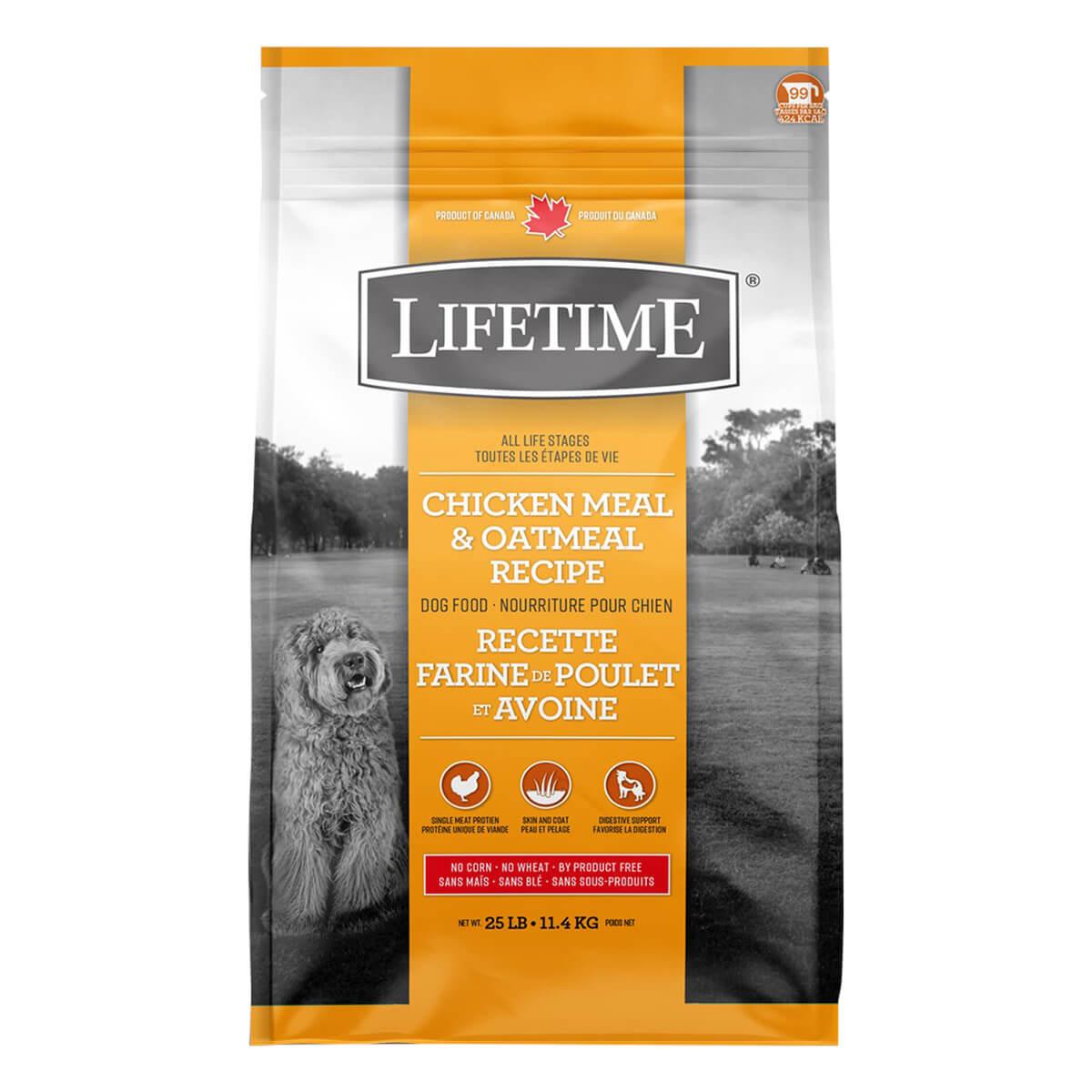 Lifetime Chicken Dog Food - 11.4 kg