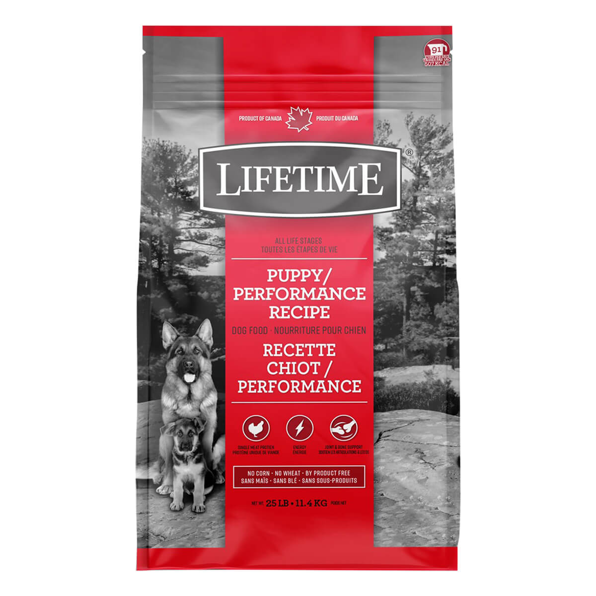 Lifetime Puppy/Performance Dog Food - 11.4 kg