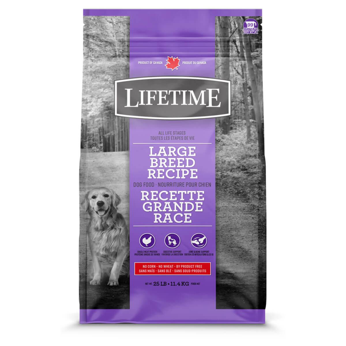 Lifetime Large Breed Chicken Dog Food - 11.4 kg