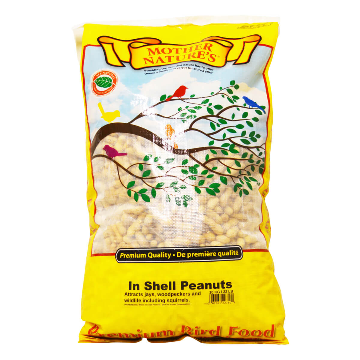 Mother Nature's Shell Peanuts - 10 kg