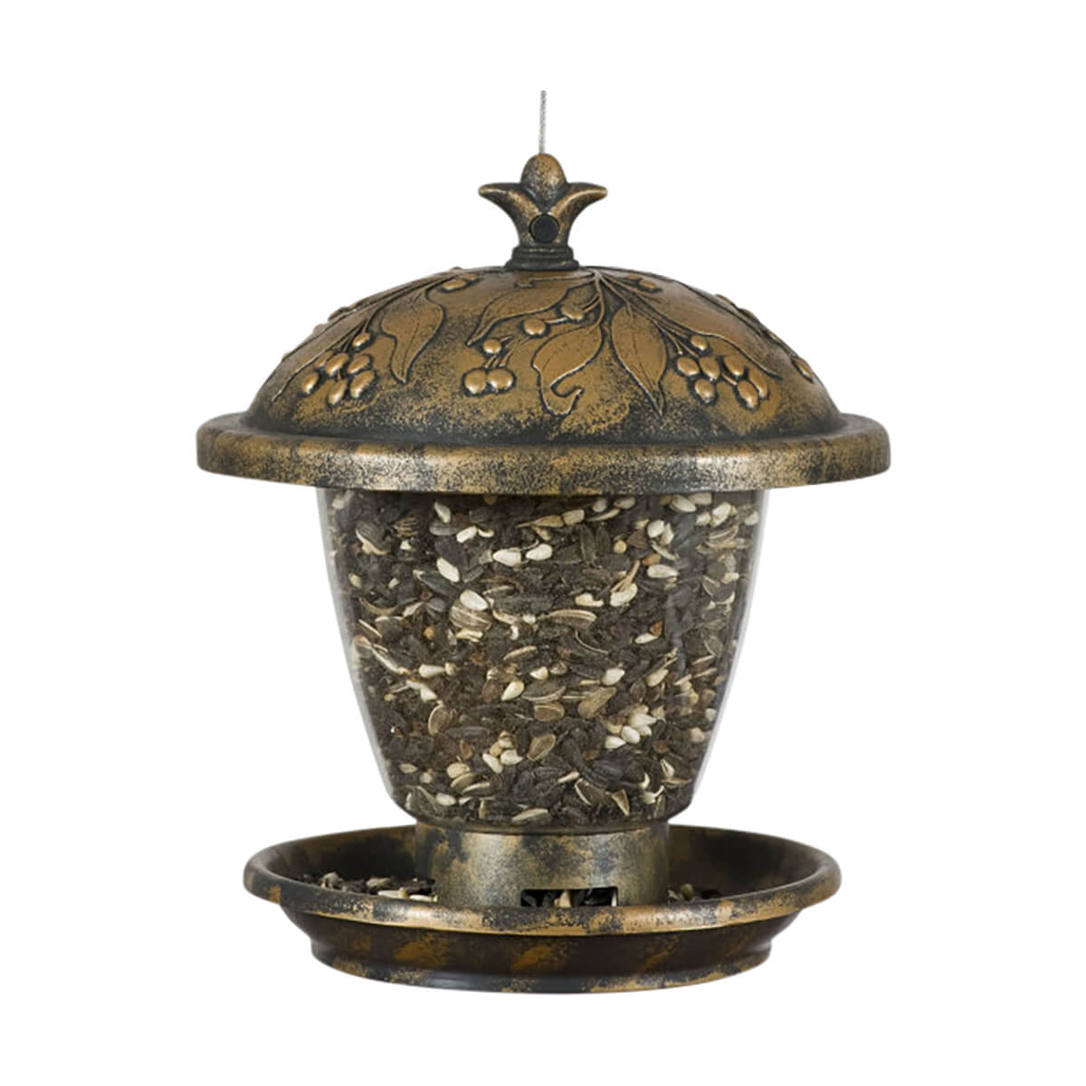 Perky-Pet® Holly Berry Gilded Chalet Feeder - 2 lb