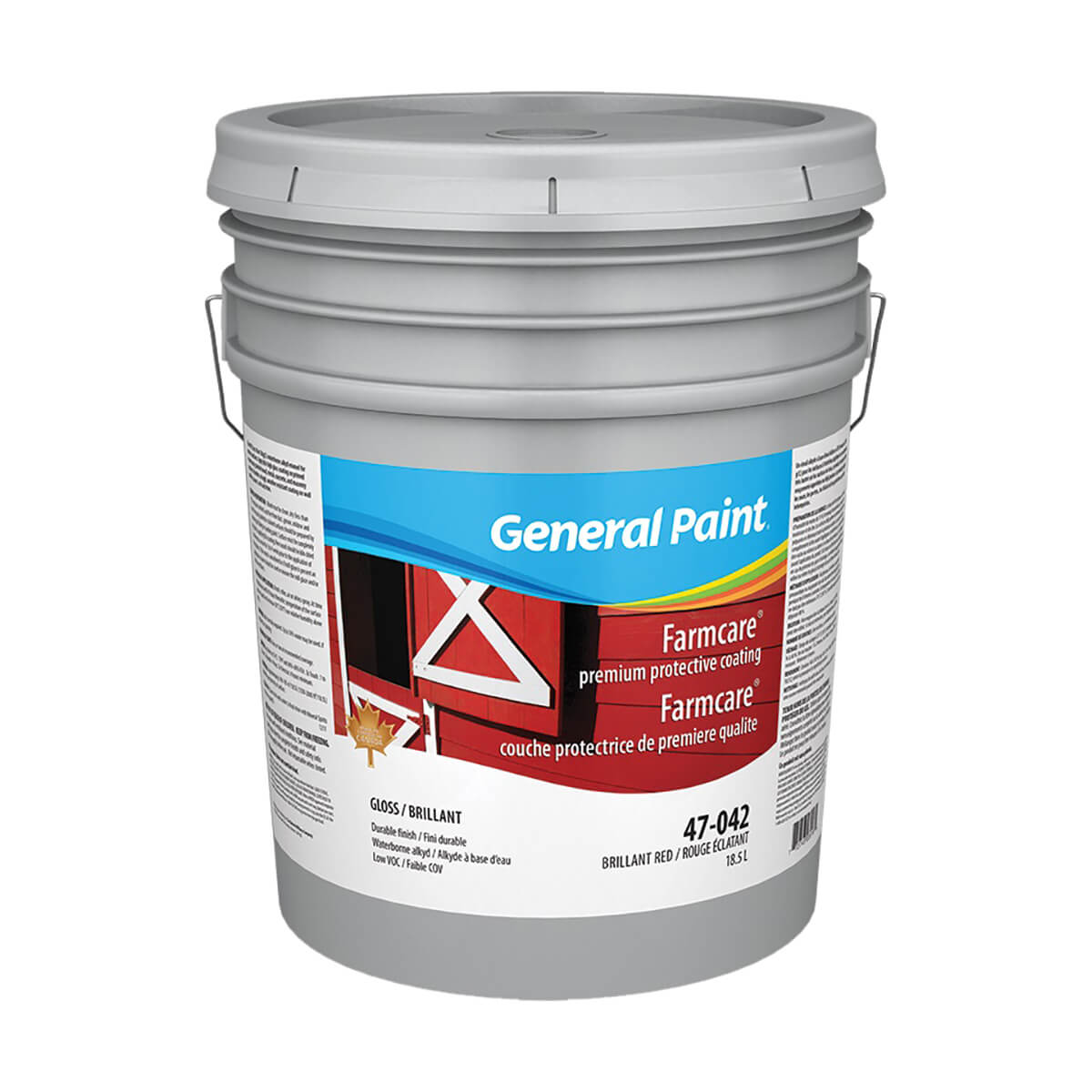 General Paint Farmcare Waterborne Alkyd Base - Brilliant Red - 18.9 L