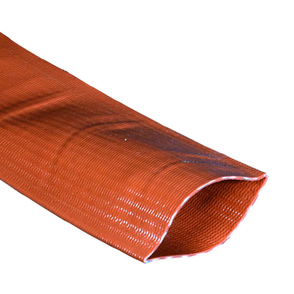 "Brown Medium-Duty PVC Layflat Discharge Hose - 3"" - Price Per Foot"
