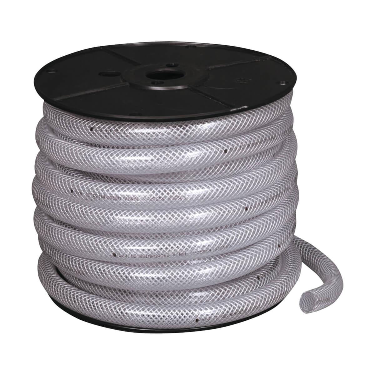 Reinforced Clear Vinyl Tubing — Bulk - 1-1/4-in - Price Per Ft