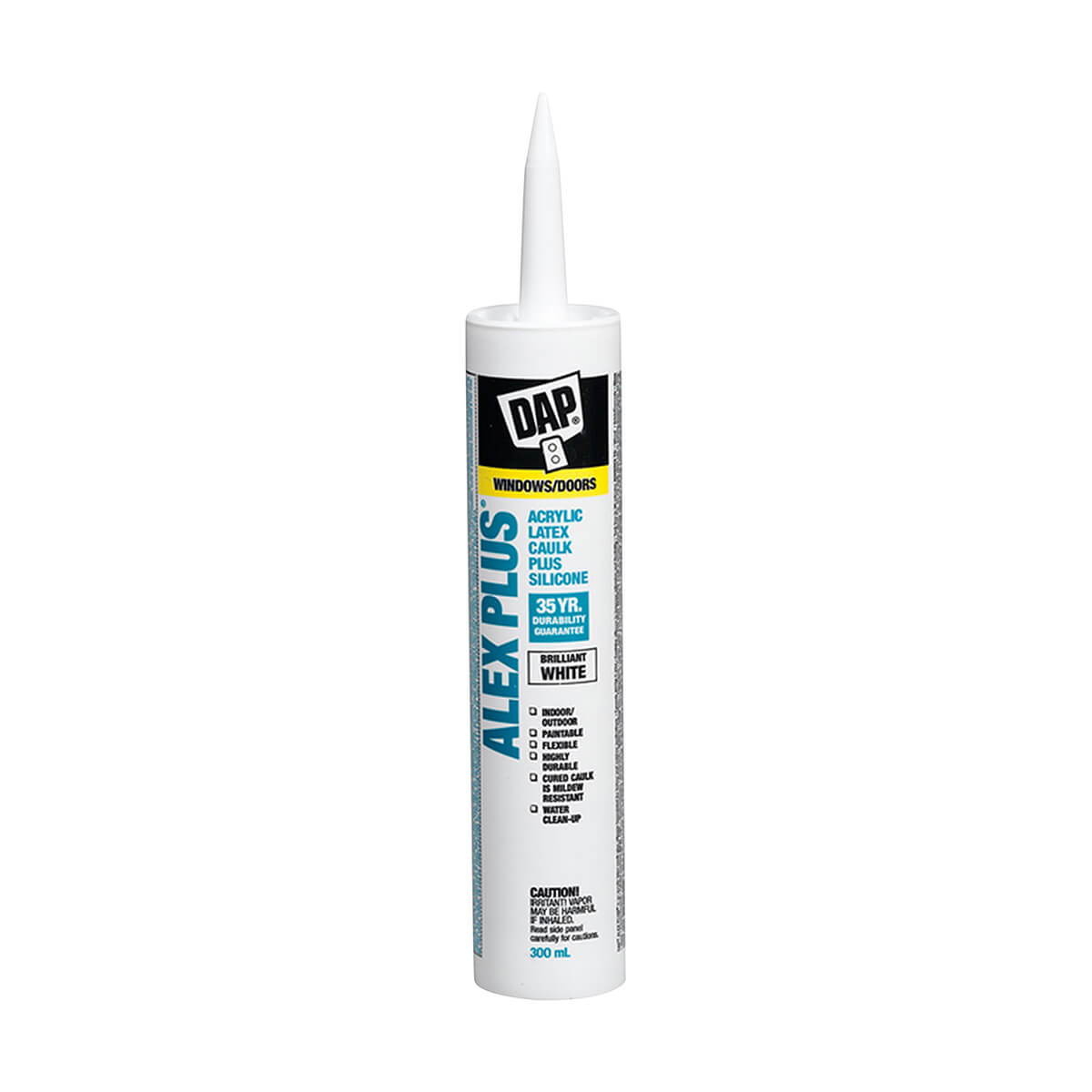 Dap Alex Plus Clear Acrylic Latex Caulk Plus Silicone - White - 300ml
