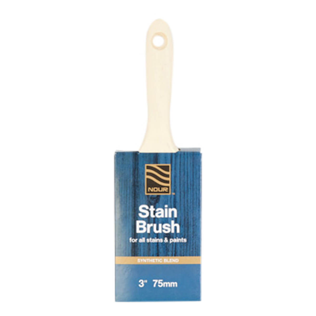 Nour Synthetic Stain Brush - 3-in
