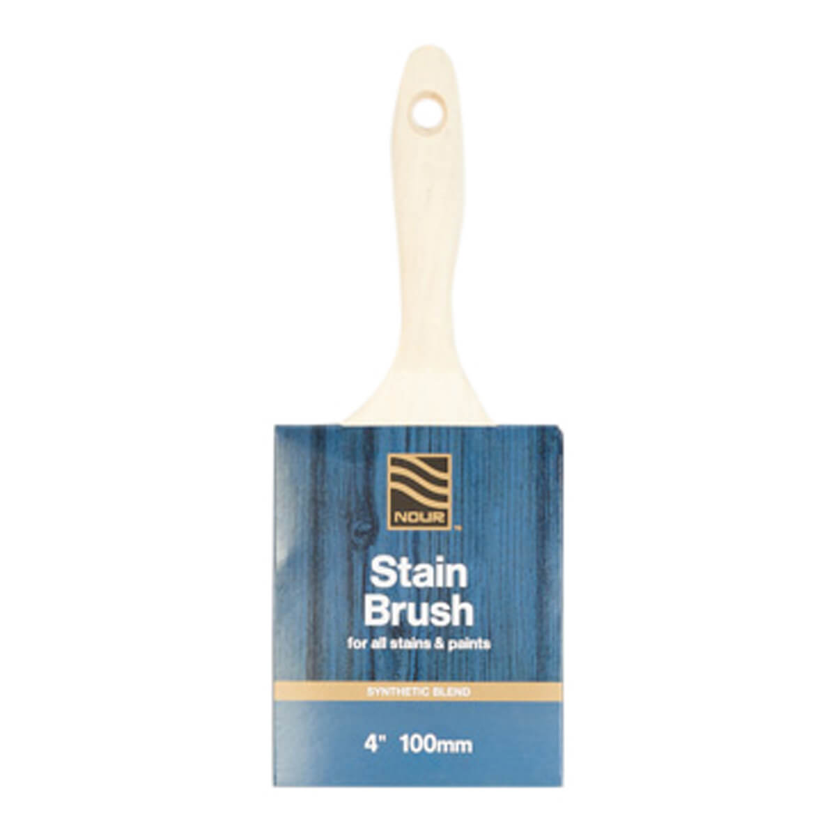 Nour Synthetic Stain Brush - 4-in