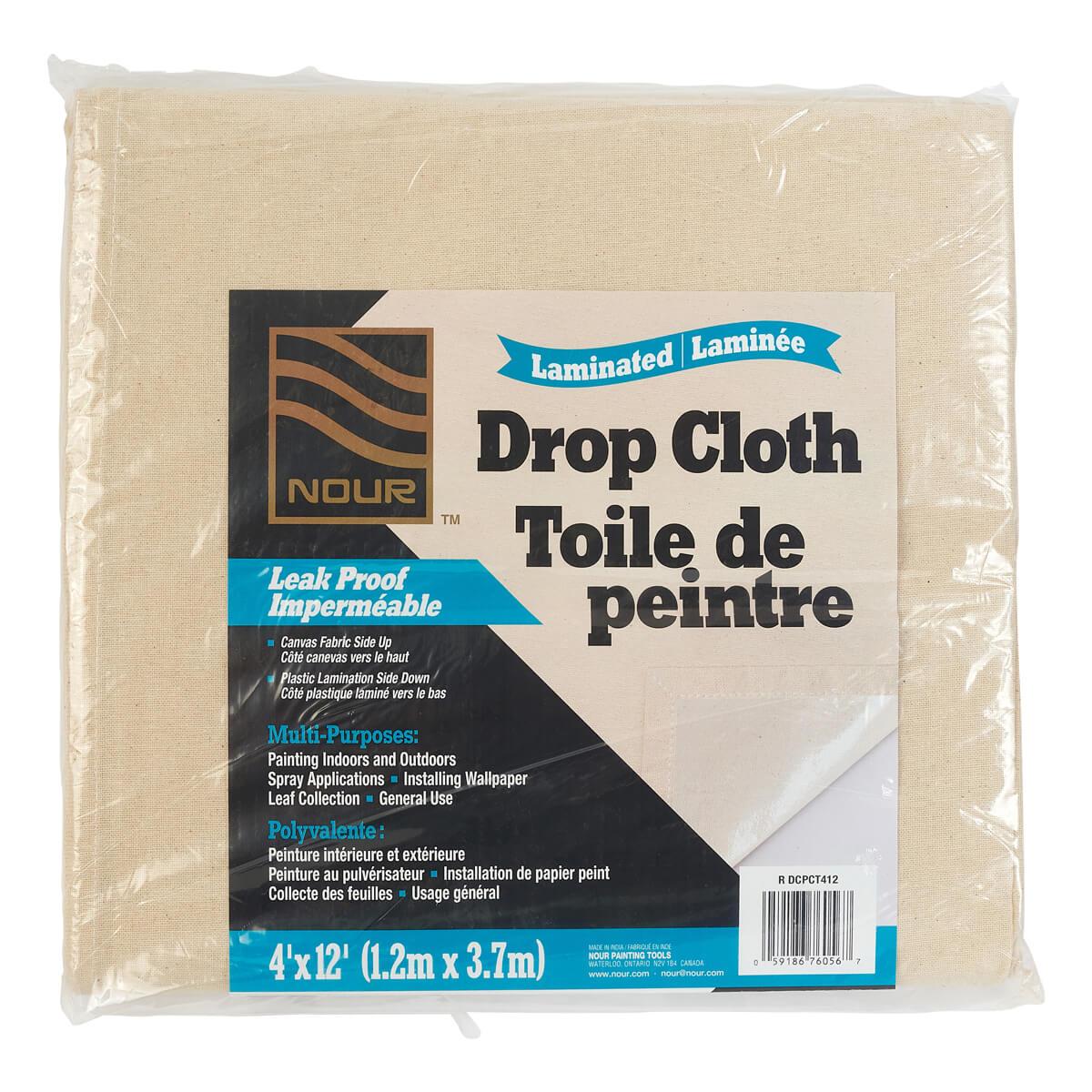 Laminated Drop Cloth - 4-ft x 12-ft