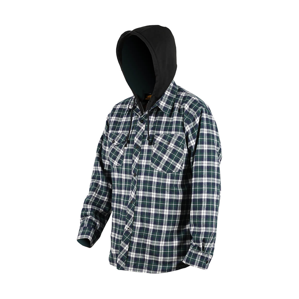 Men's Hooded Quilted Flannel - Assorted